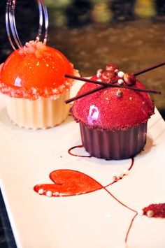 Our Valentine's Menus roll out next week w/ special cupcakes to support Cupcake Day & SPCA! Photo: COAST's Mousse Cupcake Duet - Ruby Grapefruit Cream & Rich Black Forest. Details at www.glowbalgroup.com.