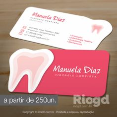 Os mais lindos e criativos modelos de Cartão de Visita com Corte Especial para Dentistas. Escolha o modelo e personalizamos com seus dados.
