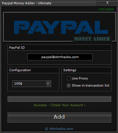 The PayPal Money Adder, the Ultimate PayPal Hack as been released with daily limit you can add up to 500$ per day without any restrictions to your account!.