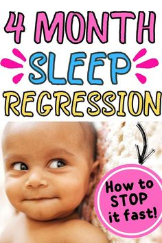 Do you have a 4 month old baby constantly waking up at night? He/she might be going through the 4 month sleep regression! Here's all the signs and tips on not just how to survive it, but also how to tackle it successfully. #babysleeping #sleepregression #momtips Sleep Regression 4 Month, Sleeping Patterns For Babies, 4 Month Old Baby, Baby Sleep Schedule, 4 Month Olds, First Daughter, After Baby, Sleepless Nights, 4 Months