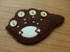 Brownie - felt brooch. $10.00, via Etsy.