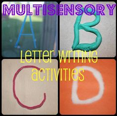 Multisensory Activities for Learning Letters