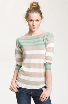 BP. Stripe Boatneck Sweater (Juniors) $44.00