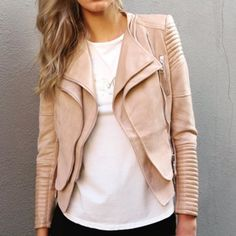 PRODUCT DESCRIPTION The BESSY BIKER JACKET is the hottest must have piece going around. Made out of a LUXE vegan leather and soft suedette, ladies you do not w