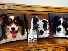 Custom Australian Shepherd #Needlepoint Pillows