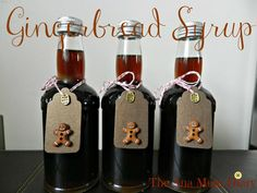 Gingerbread Syrup for Coffee or ice-cream.