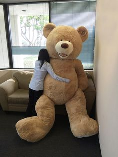 Turns out the really really BIG teddy bear from Costco is available on eBay...but he won't come cheaply...