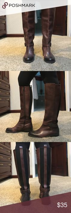 VINCE CAMUTO LEATHER RIDING BOOTS Vince camuto leather riding boots- deep burgundy/maroon/brown color Vince Camuto Shoes Combat & Moto Boots