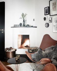 Home Decor – Living Room : Open fireplace by Jonas Berg -Read More – - Home Living Room, Living Room Designs, Living Room Decor, Living Spaces, Decor Room, Open Fireplace, Home And Deco, Living Room Inspiration, Design Inspiration