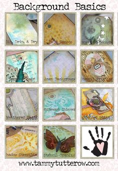 Background Basics   11 Distress Ink and Paint Techniques for Mixed Media