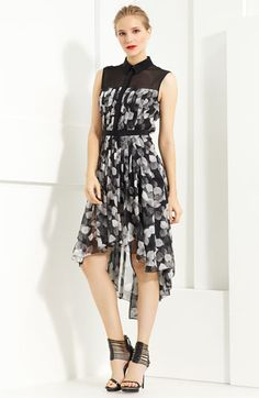 Jason Wu Floral Print Pleated Shirtdress | Nordstrom