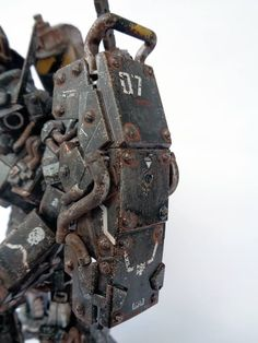 one of seven samurai series. musha gundam mg base, mg heavyarms gattling gun and back pack of hg Hard Surface Modeling, Robots Characters, Gundam Custom Build, Sci Fi Models, Gunpla Custom, Robot Design, Mechanical Design, Gundam Model, Machine Design