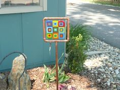 Fused Glass Garden Stake