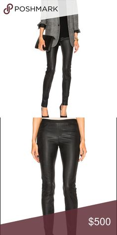 Helmut Lang Leather Leggings size 8 Helmut Lang leather leggings gently loved. Size 8 black. Genuine leather. Soft buttery leather that hugs your body. Reasonable offers accepted. Helmut Lang Pants Leggings
