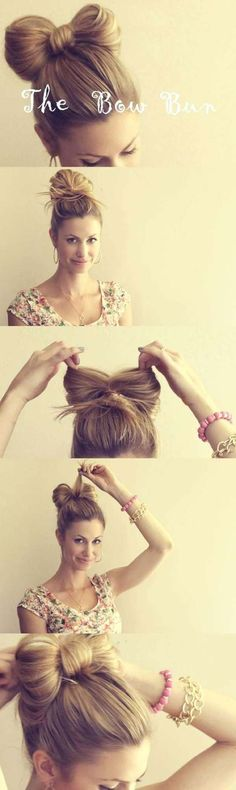 Cool and Easy DIY Hairstyles - The Hair Bow - Quick and Easy Ideas for Back to School Styles for Medium, Short and Long Hair - Fun Tips and Best Step by Step Tutorials for Teens, Prom, Weddings, Special Occasions and Work. Up dos, Braids, Top Knots and Bu