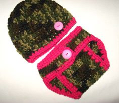 Pink Camo Little Hunting Girl Camo Baby Diaper by LilliansLine, $12.99