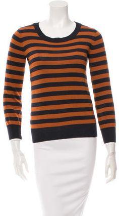 A.P.C. Wool Striped Sweatshirt Apc, Stripe Print, Hoodies, Sweatshirts, Crew Neck, Wool, Stylish, Fashion, Moda