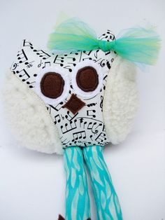 Whimsical Owl, Baby Toy Rattle, Soft Stuffed Animal #shoplocal #CyberMonday