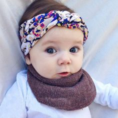 Baby Kids Girls Children Infant Floral Cross Topknot Hairband Turban Tie Knot Summer Baby Headband Hair Band Hair Accessories