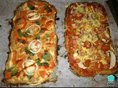 Receta de Masa de coliflor sin harina #RecetasGratis #RecetasFáciles #Pizza #Coliflor #SinGluten