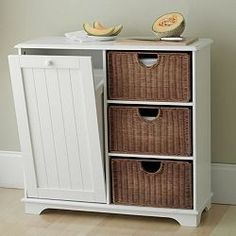 Might Be Good For That Short Kitchen Wall, Garbage Can, Basket Storage, And