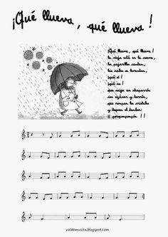 Partituras de canciones tradicionales infantiles españolas #edmusical // Traditional children's songs music sheets #musiced Recorder Music, Primary Music, Music For Kids, Music Classroom, Teaching Music, Music Lessons, Music Education, Kawaii Anime, Sheet Music