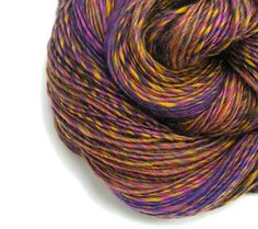 Merino & Bamboo Single Ply Handspun Yarn Purple by TheSavvyStitch