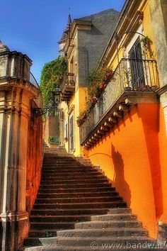 Trecastagni , province of Catania , Sicily region Italy Love the orange! Oh The Places You'll Go, Places To Travel, Places To Visit, Dream Vacations, Vacation Spots, Beautiful World, Beautiful Places, Famous Castles, Photos Voyages