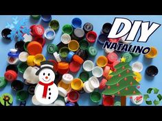 IDEIAS Com Tampinhas de Garrafa Pet | NATAL - YouTube Christmas Eve, Christmas Crafts, Recycled Crafts, Alice, Nail Polish, Paper Crafts, Ornaments, Painting, Youtube