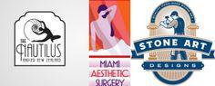 Logo for The Nautilus Napier hotel, Mel Gardner; logos for Miami Aesthetic Surgery and Stone Art, GDS. Art Deco Logo, Art Deco Movement, Examples Of Art, Logo Design, Graphic Design, Art Deco Period, Art Deco Design, Stone Art, Art World