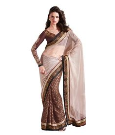 Moh Manthan Brown Net Saree