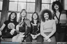 American rock group Journey New York 1978 Left to right drummer Aynsley Dunbar bassist Ross Valory singer Steve Perry guitarist Neal Schon and. Great Bands, Cool Bands, Aynsley Dunbar, Gregg Rolie, Steven Ray, Journey Pictures, Journey Band, Neal Schon, Journey Steve Perry