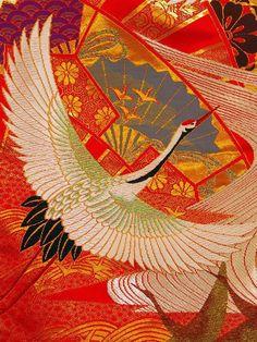 Japanese Kimono Patterns   Tsuru / Crane Japanese Kimono Pattern
