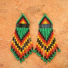 Daughter of the Earth Beaded Native American Earrings