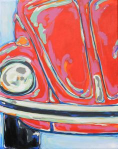 Volkswagen Retro Pop Art Original Painting 16x20 by BobbiLaRae