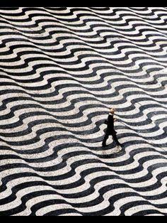Black&white Floor - Calçada portuguesa