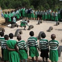"EDUCATION & ENVIRONMENT SOLUTION: Reusing old tires and integrating play with education for ""Learning Landscape""."