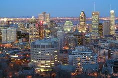 Montreal at dusk from Mount Royal.