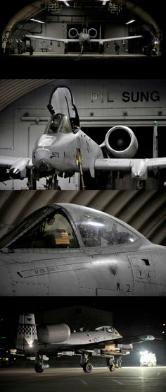 An A-10 Thunderbolt II (Warthog) sits in a hangar prior to launching for the first sortie of Beverly Midnight 14-02 at Osan Air Base, Republic of Korea, Feb. 10, 2014. Exercises like BM 14-02 test Airmen on their ability to operate and accomplish the mission during war-time contingency operations. (U.S. Air Force photo/Senior Airman Siuta B. Ika)