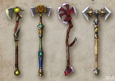 Anthony: i like the idea of weapons being implemented in the game, these designs are really good Fantasy Armor, Fantasy Weapons, Medieval Fantasy, Prop Design, Game Design, How To Draw Weapons, Hidden Weapons, Cosplay Weapons, Zombie Weapons