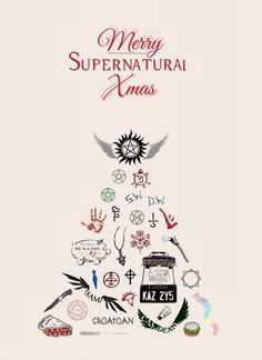 - delicas: Merry Supernatural Christmas for everyone Supernatural Series, Supernatural Tattoo, Supernatural Fan Art, Spn Tattoo, Supernatural Wallpaper Iphone, Dean Winchester, Winchester Brothers, Jensen Ackles, Jared And Jensen