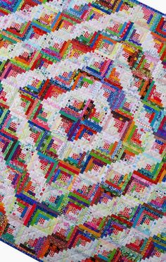 Red Pepper Quilts: Step Back in Time - another beautiful rainbow Log Cabin