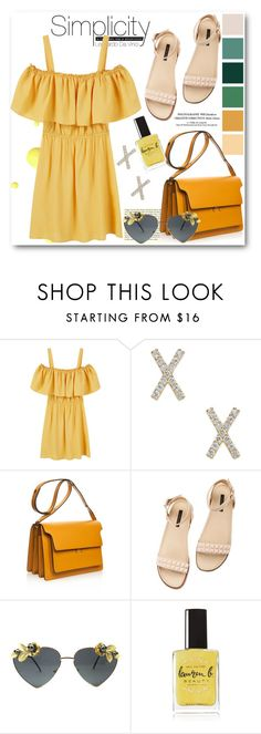 """shoulder off ootd"" by ainzme ❤ liked on Polyvore featuring MANGO, Marni, Rachel Zoe and Lauren B. Beauty"