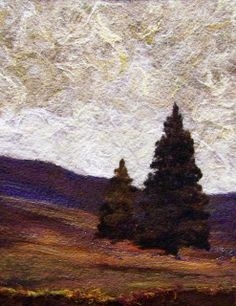 #623 Autumn Field   Flickr - Photo Sharing! Felted Trees.