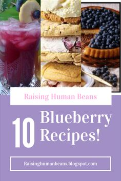 #blueberry #desserts #dessertrecipes  Raising Human Beans: 10 National Blueberry Day Recipes. Are you celebrating National Blueberry day? Do you like blueberry recipes? How about delicious dessert recipes? This post has 10 handpicked blueberry recipes. Delicious and blueberry tasty!