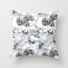 Hydrangea pillow home decor pillow hydrangea by NewCreatioNZ
