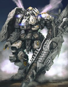 Mecha in the mist by V-Shane on DeviantArt
