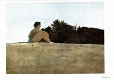 Sandspit and The Beach were painted by Andrew Wyeth, Large Prints. The page is approx. 16 3/4 inches wide and 13 inches tall. by Blossomprintsandmore on Etsy