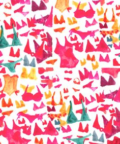 new pattern by Schmeltzer Rodgers of paper fashion Textures Patterns, Color Patterns, Print Patterns, Pattern Print, Textiles, Surface Design, Johannes Itten, Conversational Prints, Watercolor Wallpaper