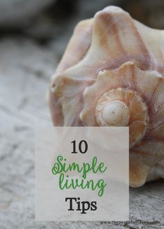 This world is often out of control...try these 10 tips to simplify your life!